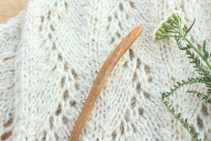 Mineral Stained Cherry Sweater + Shawl Pin