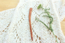 Load image into Gallery viewer, Live Edge Mineral Streaked Cherry Sweater + Shawl Pin