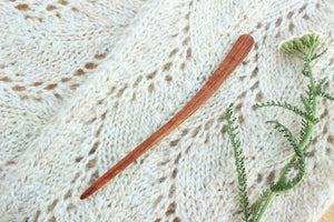 Live Edge Mineral Streaked Cherry Sweater + Shawl Pin