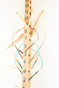 Customizable Knitting Needle Organizers - Hardwood Knitting Needle Display - Wall Mount