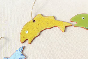 Hand Painted Fish Ornament - Jumping Fish