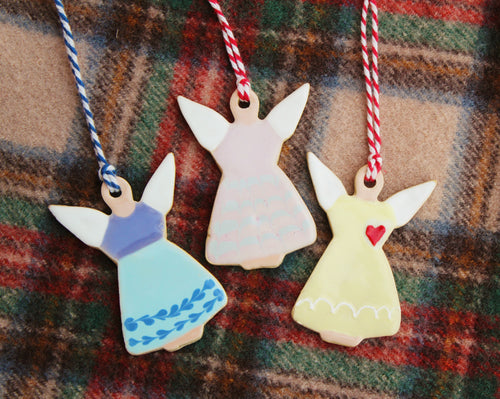 Ceramic Angel Ornaments