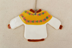 Sweater Ornament - Iceland Yolk Design - Lopi