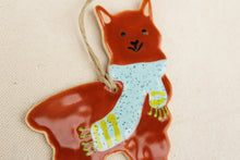 Load image into Gallery viewer, Alpaca Ornament - Hand Painted Ceramic Alpaca Ornament - Brown