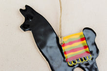 Load image into Gallery viewer, Llama Ornament - Hand Painted Ceramic Llama ornament - Black