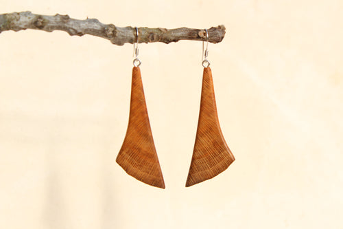 Natural Wooden Earrings - Sycamore - Live Edge Design
