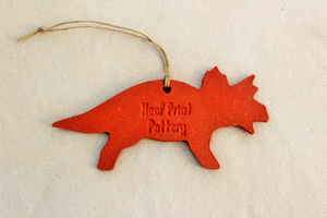 Copy of Dinosaur Ornament - Triceratops Ornament - Orange