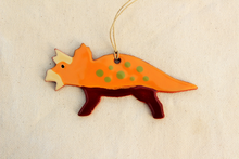 Load image into Gallery viewer, Copy of Dinosaur Ornament - Triceratops Ornament - Orange