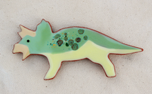 Load image into Gallery viewer, Dinosaur Magnet - Triceratops - Mint Green
