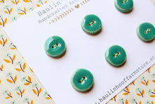 Load image into Gallery viewer, Round Ceramic Buttons - Green / Blue-green