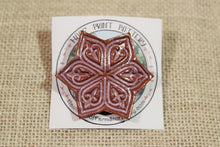 Load image into Gallery viewer, Ceramic Mandala Star Barrette-Red Clay - Purple - Lavender