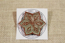 Load image into Gallery viewer, Ceramic Mandala Star Barrette-Red Clay - Green - Mint Green