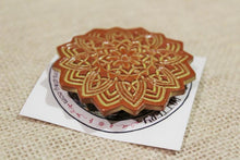 Load image into Gallery viewer, Ceramic Mandala Barrette-Red Clay - Yellow -Golden Brown