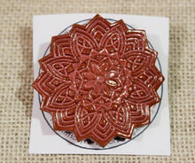 Load image into Gallery viewer, Ceramic Mandala Barrette-Red Clay - Rose Pink
