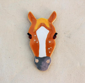 Horse Magnet - Horse Head Magnet - Strawberry Roan Horse