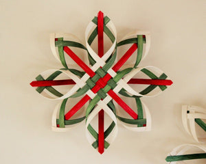 Dyed Swedish Advent Star - Natural Woven Star