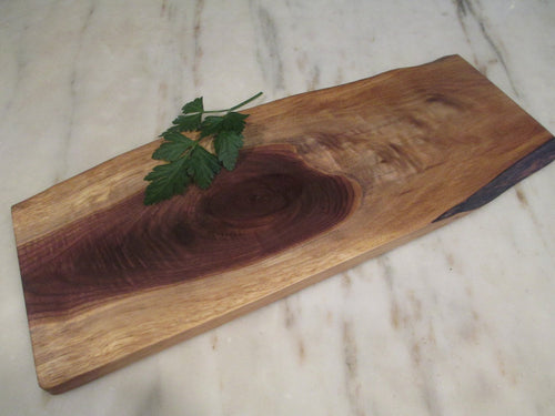 Natural Edge Black Walnut Serving Board