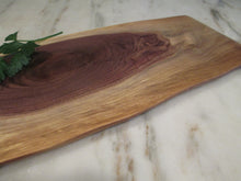 Load image into Gallery viewer, Natural Edge Black Walnut Serving Board