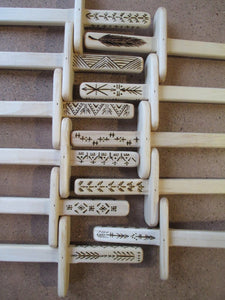 Wooden Play Swords with Wood Burned Design