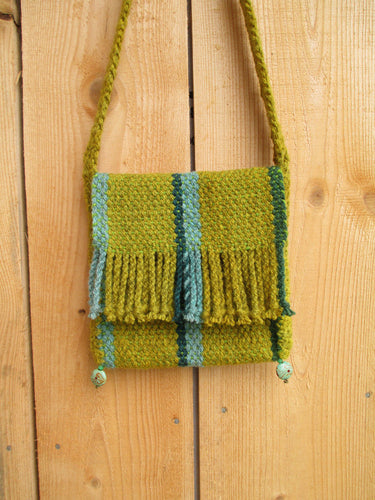 Handwoven Purse - Mustard Yellow Satchel