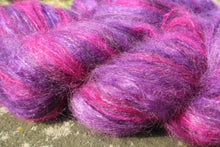Load image into Gallery viewer, Hand dyed Mohair Yarn  - Brushed Mohair Yarn - Purple