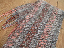 Load image into Gallery viewer, Handwoven Scarf  -Hand Spun Wool + Organic Cotton + Linen
