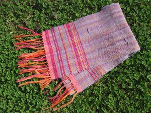 Handwoven scarf - Spring Beauty