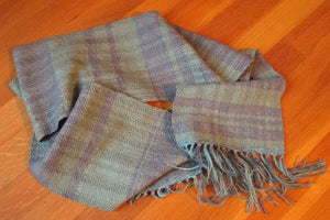 Handwoven Cotton + Linen + Silk Scarf
