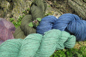 Fingering Weight - 2ply Hand-dyed Yarn