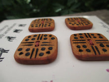 Load image into Gallery viewer, Cherry Wood Buttons - Wood burned