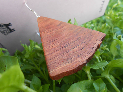 Cherry Wood Earrings - Triangular