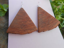 Load image into Gallery viewer, Cherry Wood Earrings - Triangular