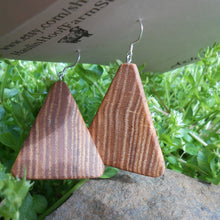 Load image into Gallery viewer, Ash Wood Earrings - Triangles
