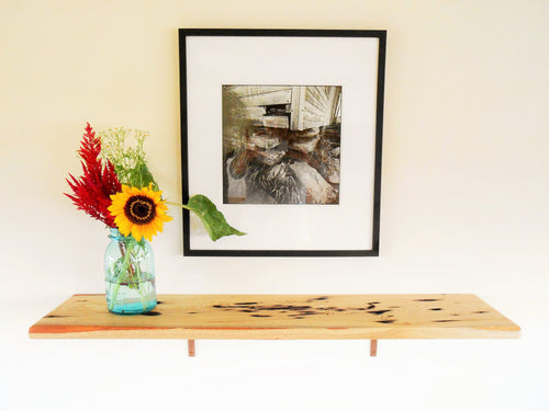Distressed Sassafras Wood Shelf