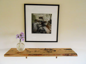 Live Edge Distressed Wood Shelf - Sassafras