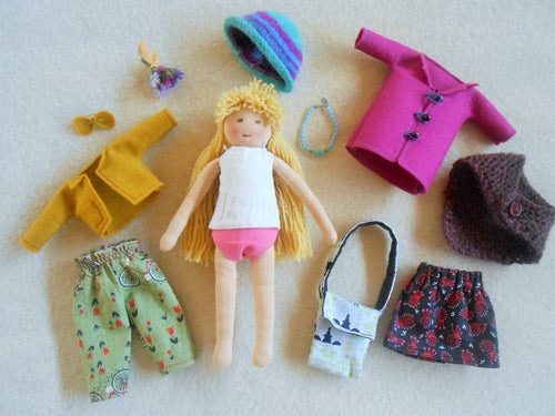 Organic Waldorf Dress-up Doll with Accessories