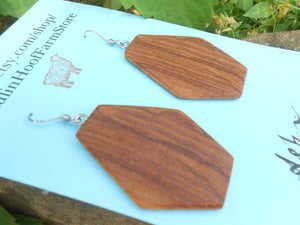 Ash Wood Earrings - Geometric