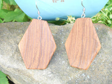 Load image into Gallery viewer, Ash Wood Earrings - Geometric