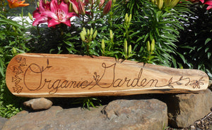Organic Garden - Black Locust Sign