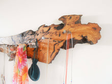Load image into Gallery viewer, Rustic Salvaged Wood Accessory Rack - Red Oak