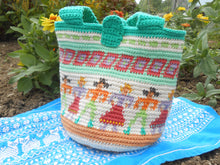 "Load image into Gallery viewer, Tapestry Crocheted  ""Contra Dance"" Purse with Liner"