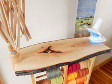 Load image into Gallery viewer, Weaving Winding Station & Spool Rack - Custom Made From Appalachian Hardwoods