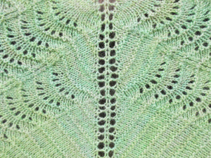 Ocean Waves Shawl - Blue-Green
