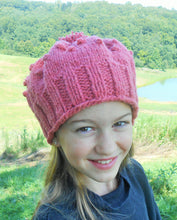 Load image into Gallery viewer, Girls Chunky Knit Merino Pom Pom Hat - Rose/Pink