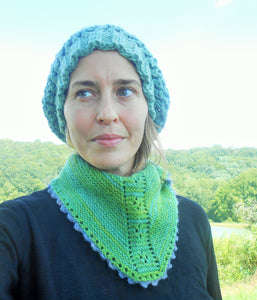 Alpaca Triangle Scarf with Picot Trim