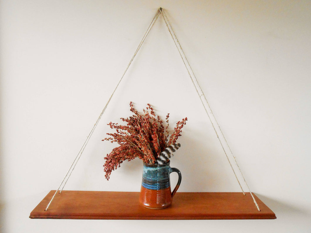 Cherry Swing Shelf with Hemp Cord