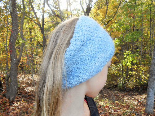 Indigo Dyed Alpaca Head Wrap