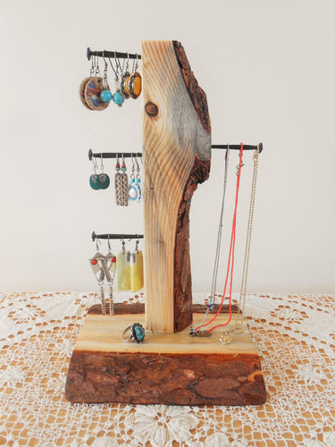 Pine Wood Jewelry Organizer - Jewelry Tree