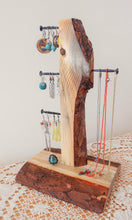 Load image into Gallery viewer, Pine Wood Jewelry Organizer - Jewelry Tree