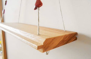 Decorative Swing Shelf with Clay Beads